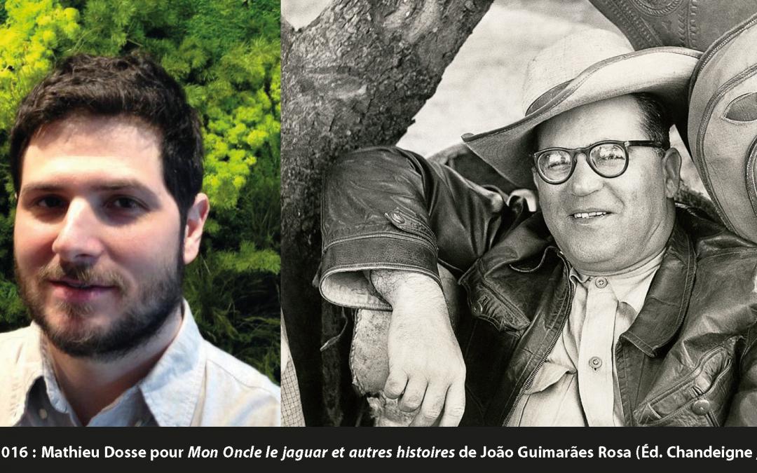 """Grand prix de traduction de la ville d'Arles 2016 pour """"Mon oncle le jaguar & autres histoires"""""""