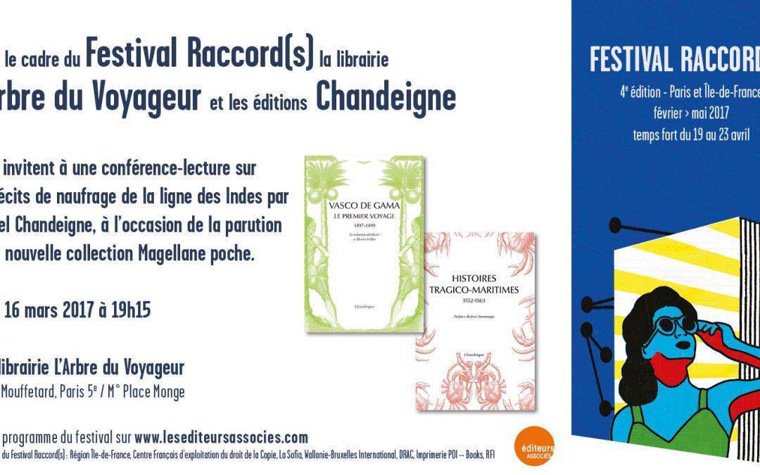 Conférence-Lecture – Les récits de naufrage sur la route des Indes avec Michel Chandeigne à La librairie L'Arbre du Voyageur le 16 mars à 19h15