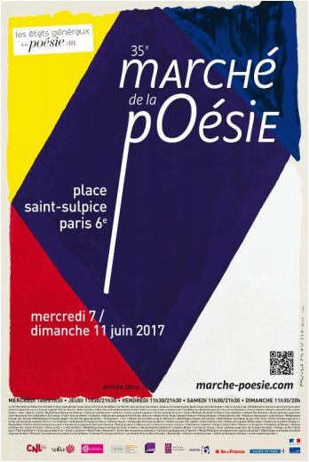 35e Marché de la poésie, Place Saint Sulpice du 7 au 11 juin