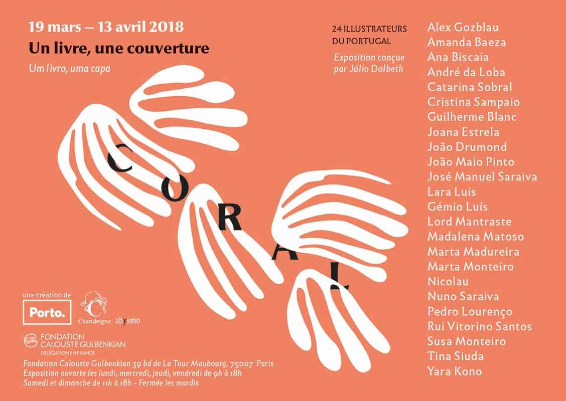"""Exposition """"Coral – un livre, une couverture – 24 illustrateurs portugais"""" du 19 mars au 23 avril 2018"""