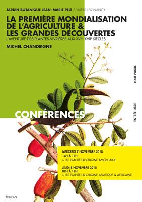 """Jardin Botanique Jean-Marie Pelt à Villiers-les-Nancy – Conférence(s) de Michel Chandeigne autour du """"Voyage des plantes """" – Les 7 & 8 novembre 2018"""