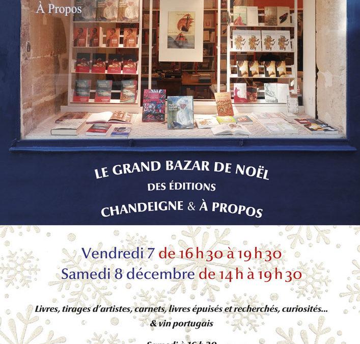 Librairie Chandeigne – À Propos – Le Grand Bazar de Noël – Vendredi 7 décembre 16h30 – 19h30 // Samedi 8 décembre 14h30-19h30