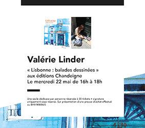 Librairie du BHV – Rencontre et dédicace avec Valérie Linder autour de «Lisbonne, balades dessinées» Mercredi 22 mai à 16h – Exposition du 13 mai au 18 juin 2019