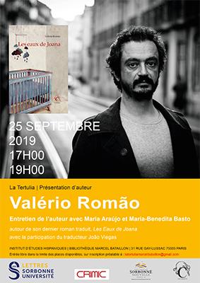 """Bibliothèque Marcel Bataillon – Mercredi 25 septembre à 17h – Rencontre avec Valério Romão autour des """"Eaux de Joana"""""""